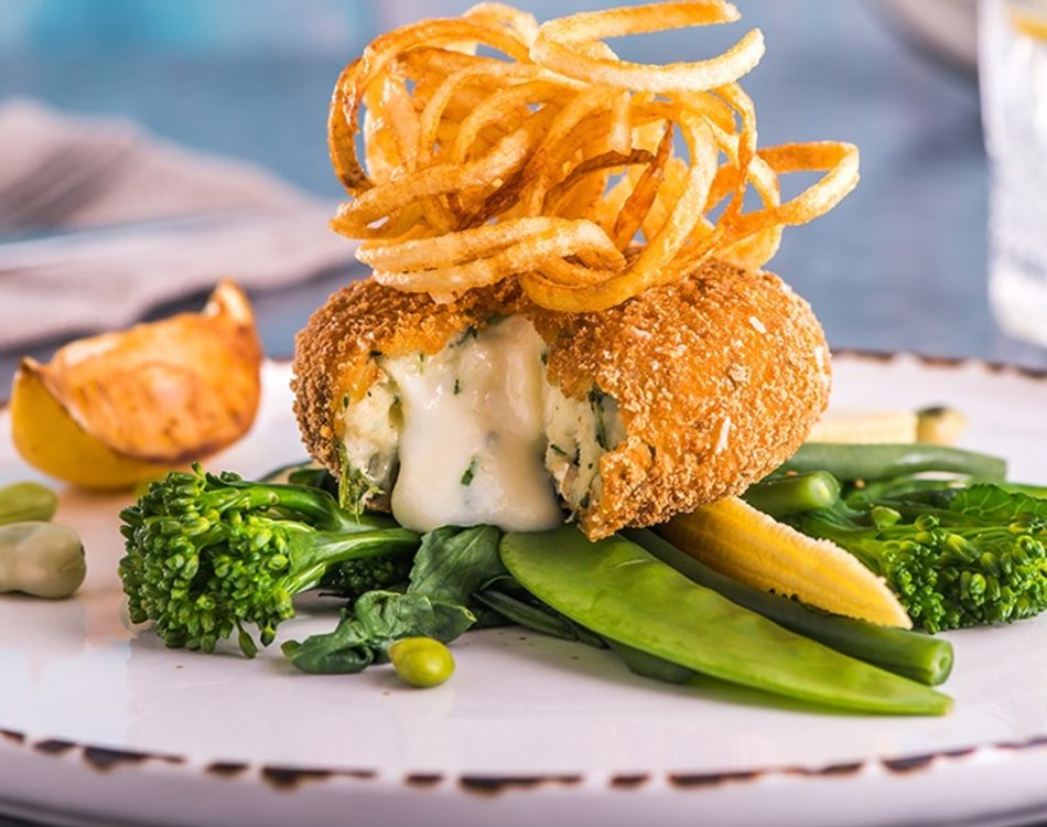 Salmon, Haddock & Asparagus Fishcake (Gluten Free)